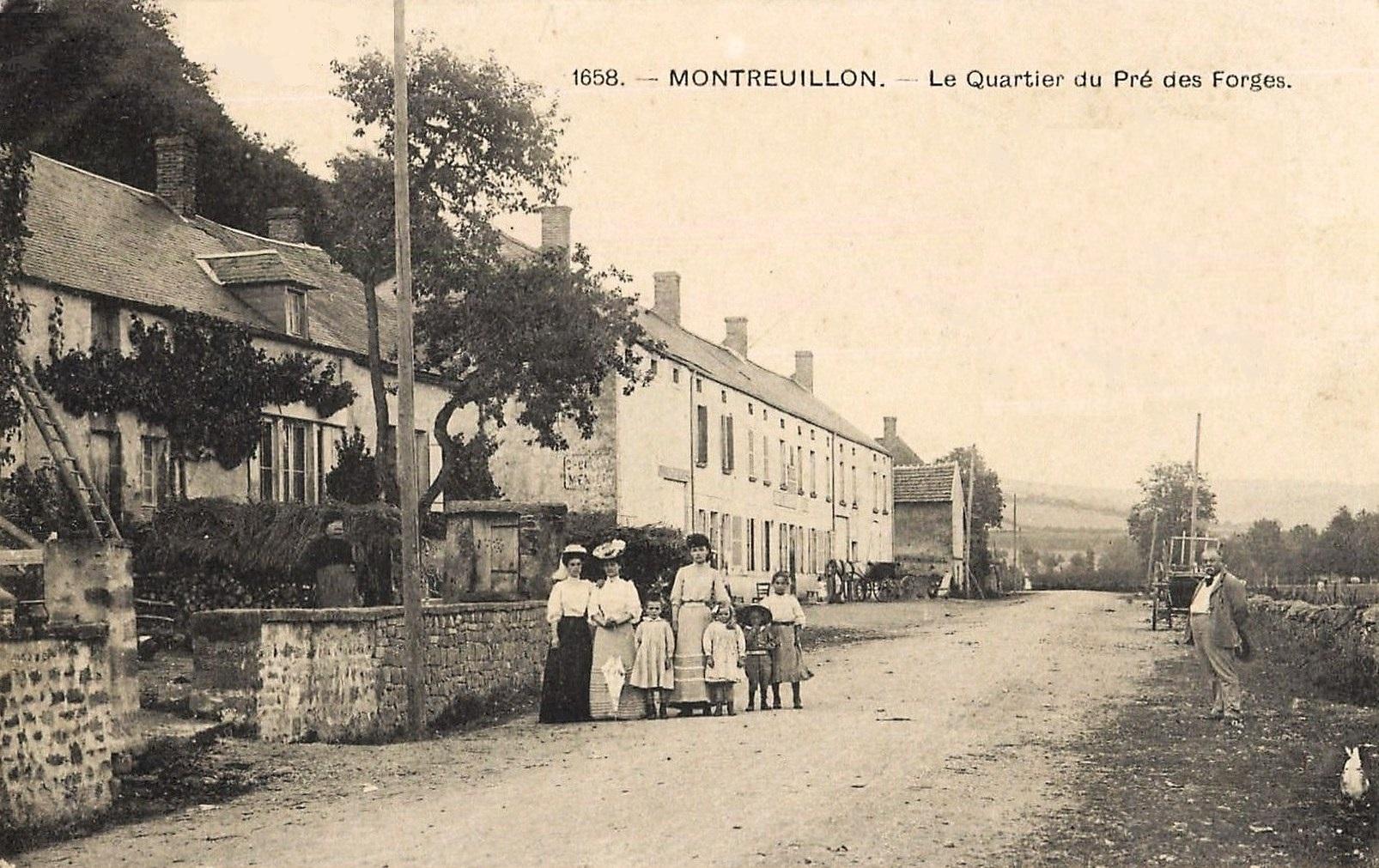 Montreuillon (Nièvre) Le quartier du Pré des Forges CPA