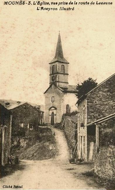 Mounes-Prohencoux (Aveyron) CPA Eglise
