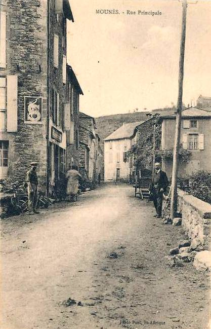 Mounes-Prohencoux (Aveyron) CPA Rue principale