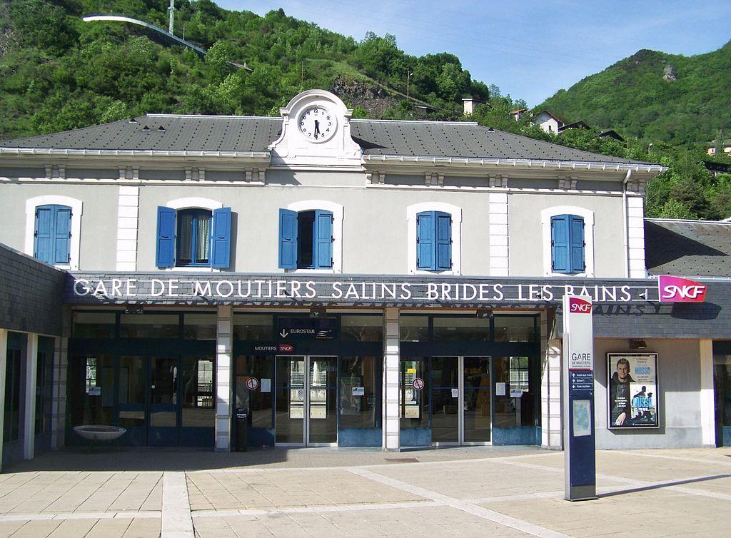 Moûtiers (Savoie) La gare