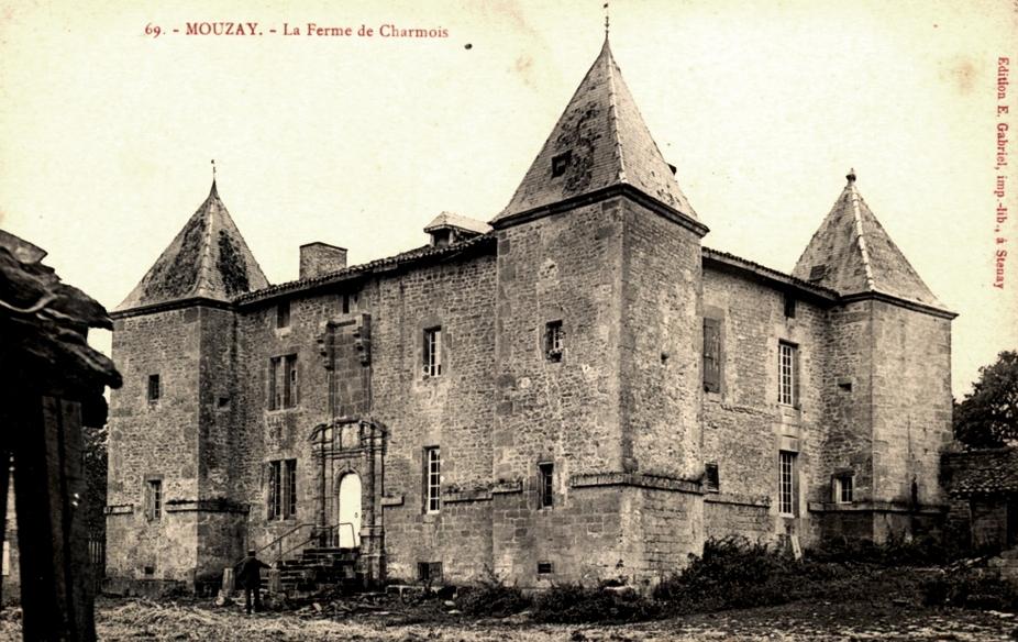 Mouzay (Meuse) Charmois, le château ferme CPA