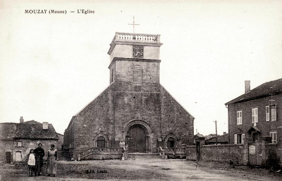 Mouzay (Meuse) L'église CPA