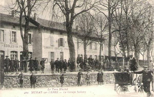 Murat-sur-Vèbre (Tarn) CPA Maire-écoles