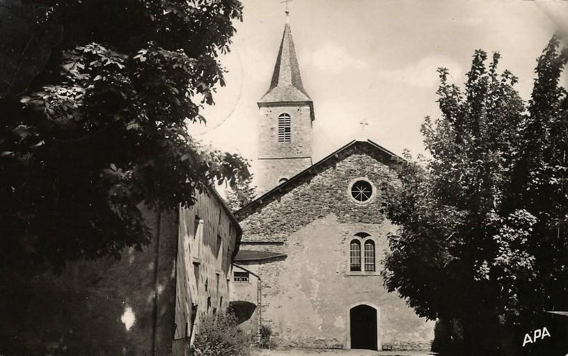 Murat-sur-Vèbre (Tarn) CPA Eglise