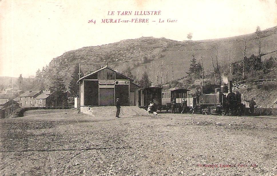Murat-sur-Vèbre (Tarn) CPA Gare