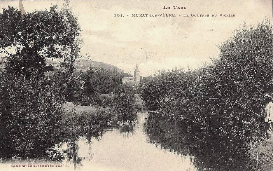 Murat-sur-Vèbre (Tarn) CPA Gouffre du Vicaire