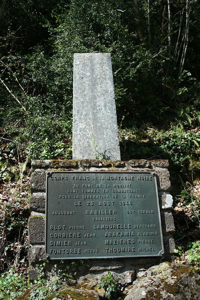 Murat-sur-Vèbre (Tarn) Mémorial du Pont Mouline