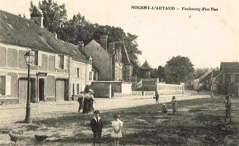 Nogent l'Artaud (Aisne) CPA Faubourg d'en-bas