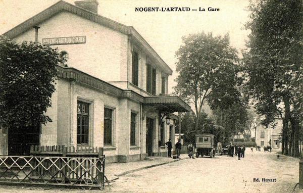 Nogent l'Artaud (Aisne) CPA Gare