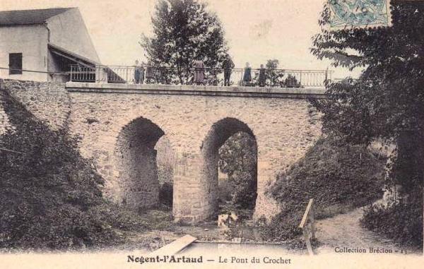 Nogent l'Artaud (Aisne) CPA Pont du Crochet