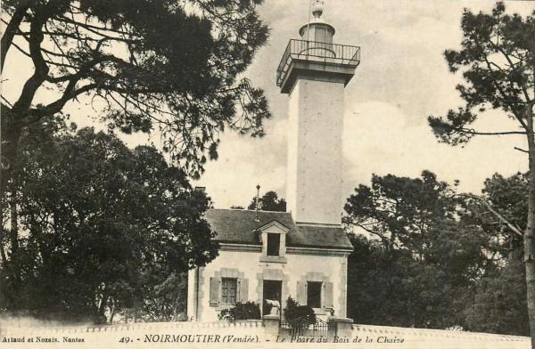 Noirmoutier-en-l'Ile (Vendée) Bois de la Chaise, le phare CPA