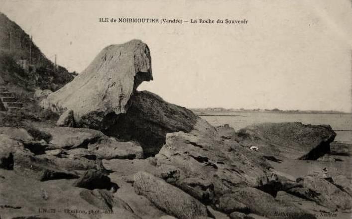 Noirmoutier-en-l'île (Vendée) La roche du souvenir CPA