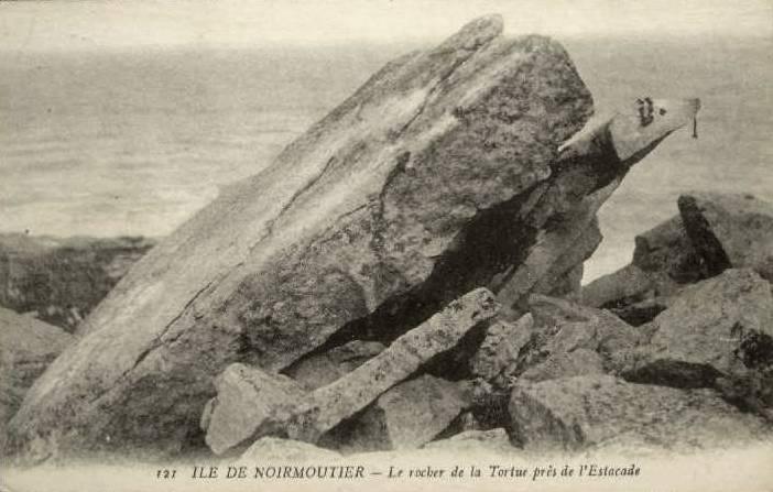 Noirmoutier-en-l'île (Vendée) Le rocher de la tortue CPA