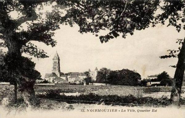 Noirmoutier-en-l'île (Vendée) Vue générale CPA
