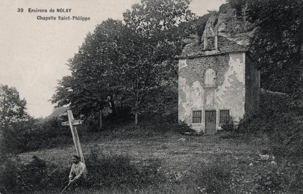 Nolay (Côte d'Or) Cirey, la chapelle Saint-Philippe CPA