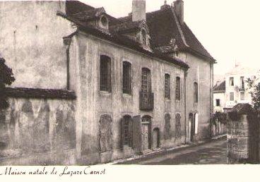Nolay (Côte d'Or) La maison natale de Lazare Carnot CPA