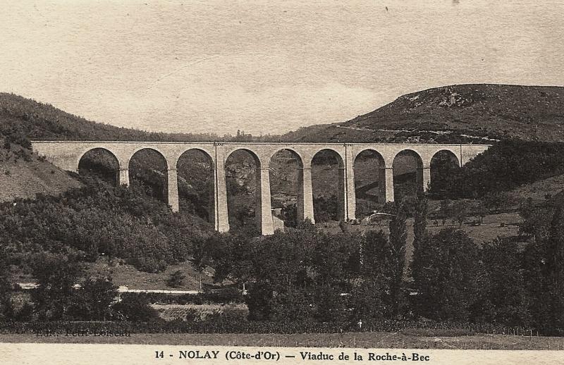 Nolay (Côte d'Or) Le viaduc de la Roche-au-Bec CPA