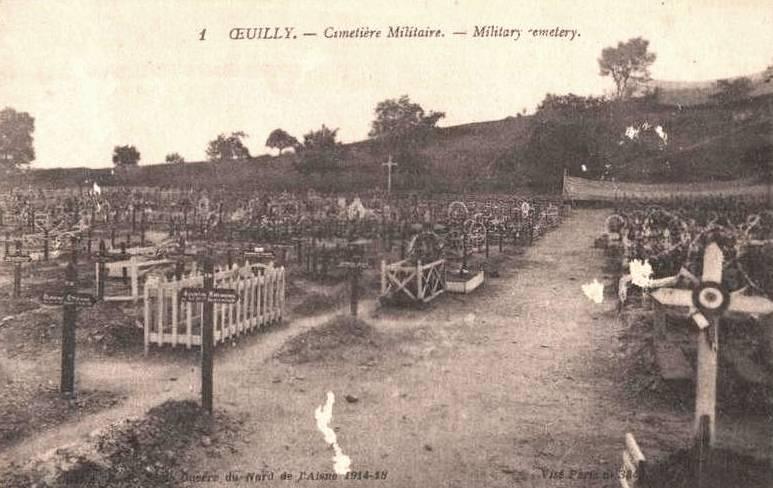 Oeuilly (Aisne) CPA cimetière