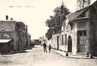 Oeuilly (Aisne) CPA grande rue