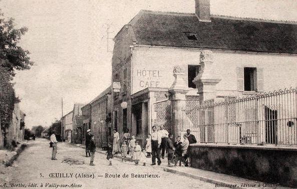 Oeuilly (Aisne) CPA hôtel et café de la Pomme d'Or