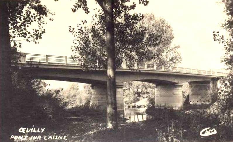 Oeuilly (Aisne) CPA pont sur l'aisne 1956
