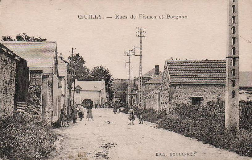 Oeuilly (Aisne) CPA route de Fismes-Pargnan