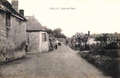 Oeuilly (Aisne) CPA rue du pont