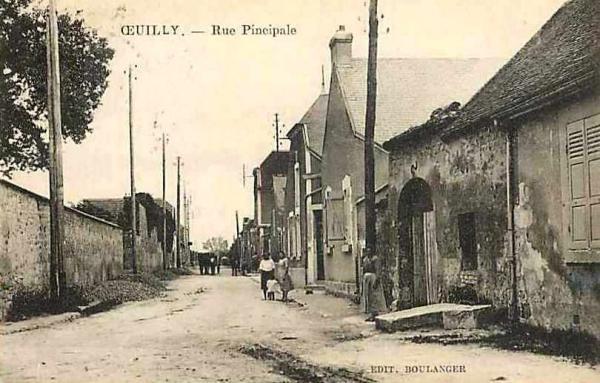 Oeuilly (Aisne) CPA rue principale