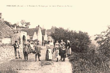 Pargnan (Aisne) CPA rue de Bourg