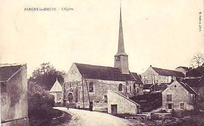 Pargny-la-Dhuys (Aisne) CPA l'église