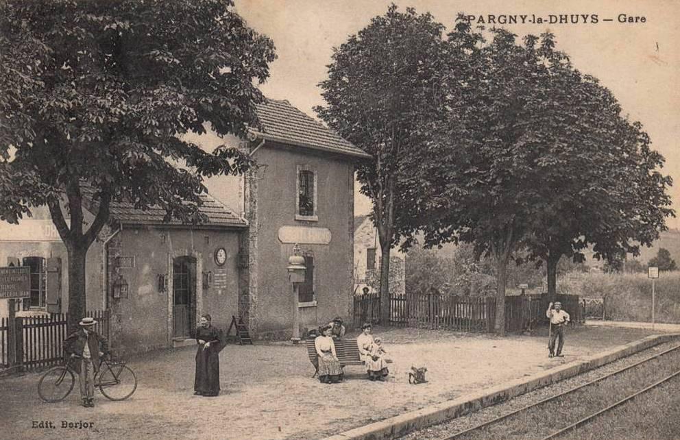 Pargny-la-Dhuys (Aisne) CPA la gare