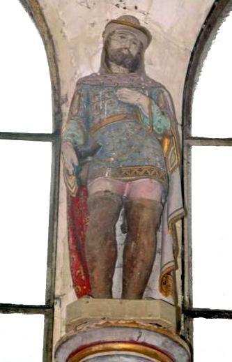 Pargny-la-Dhuys (Aisne) statue église Saint Martin