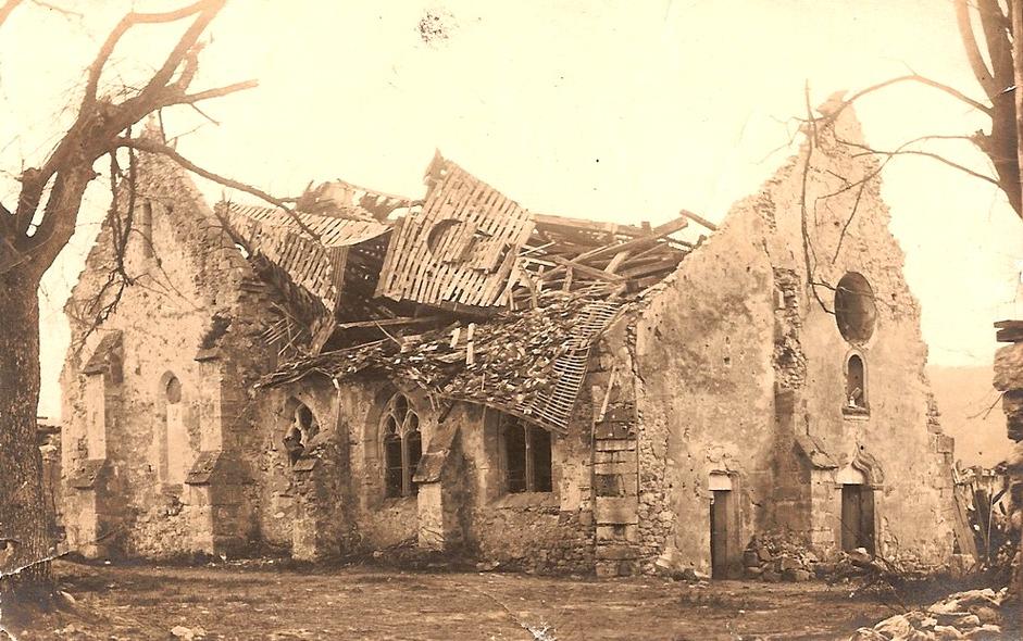 Passy-sur-Marne (Aisne) CPA 14-18 Ruines de l'église Saint-Eloi