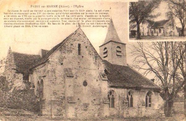 Passy-sur-Marne (Aisne) CPA église Saint-Eloi