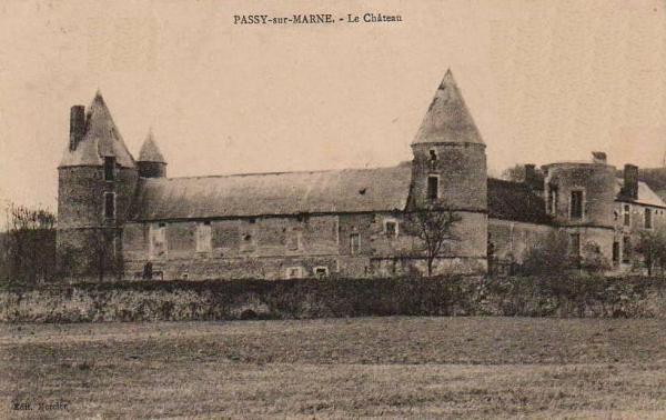 Passy-sur-Marne (Aisne) CPA le château