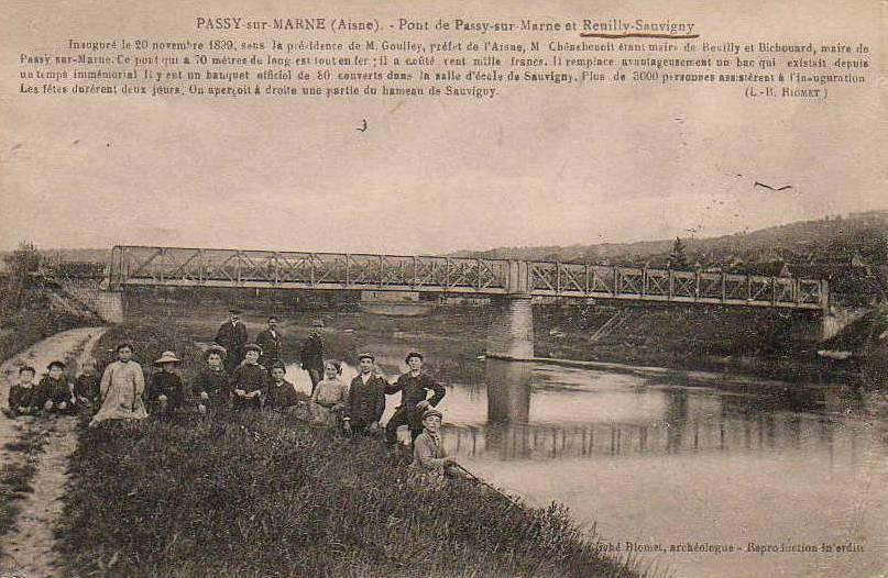 Passy-sur-Marne (Aisne) CPA le pont de Passy