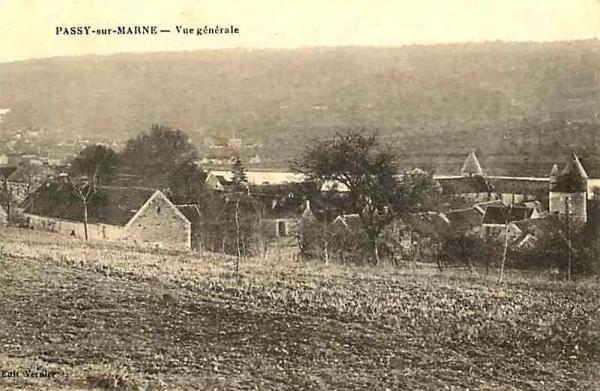 Passy-sur-Marne (Aisne) CPA vue générale