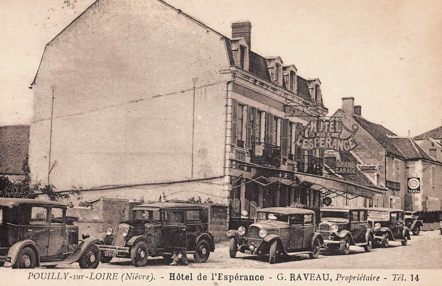 Pouilly-sur-Loire (Nièvre) L'Hôtel de l'Espérance CPA