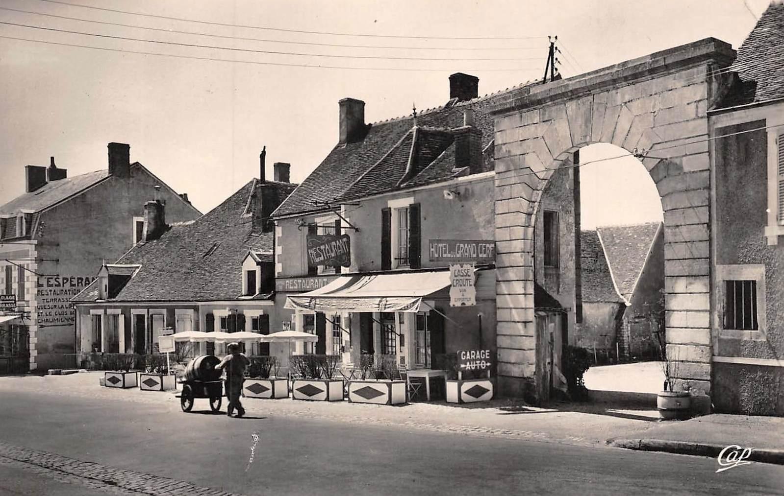 Pouilly-sur-Loire (Nièvre) L'hôtel du Grand Cerf CPA