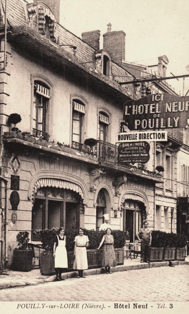 Pouilly-sur-Loire (Nièvre) L'hôtel neuf CPA
