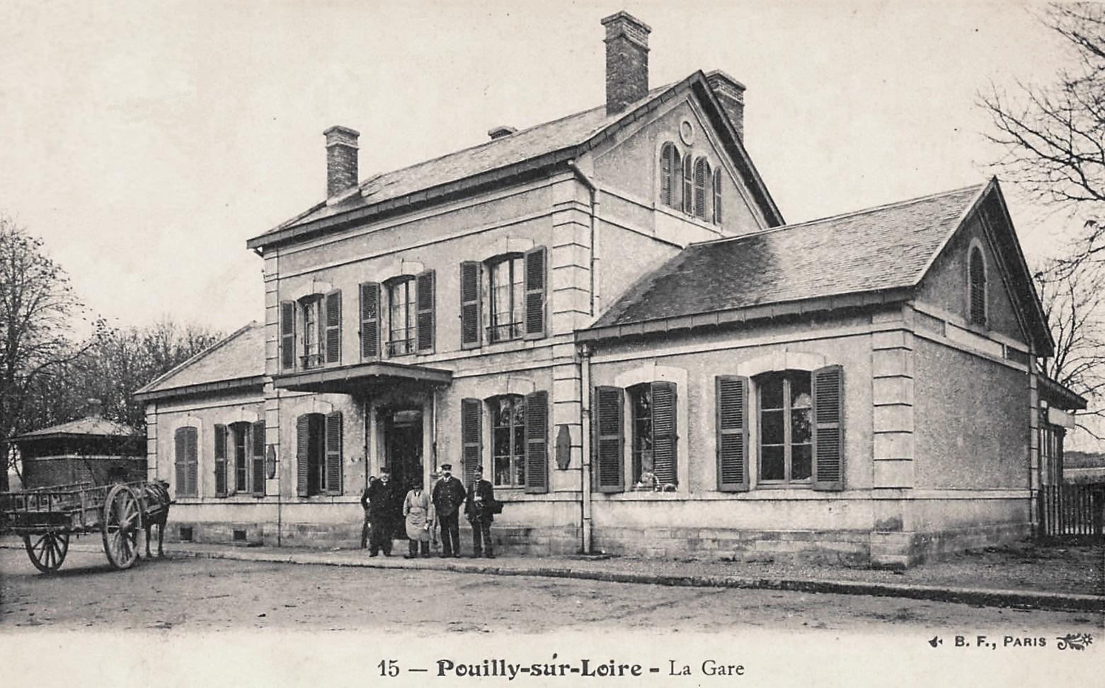 Pouilly-sur-Loire (Nièvre) La gare CPA