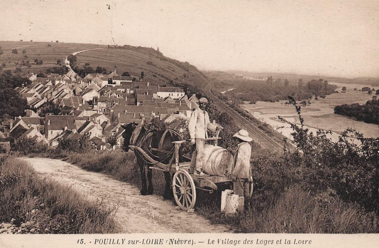 Pouilly-sur-Loire (Nièvre) Le hameau des Loges CPA