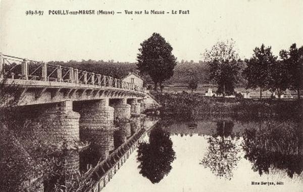 Pouilly-sur-Meuse (Meuse) Le pont