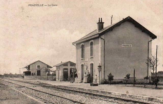 Prasville (28) La Gare CPA