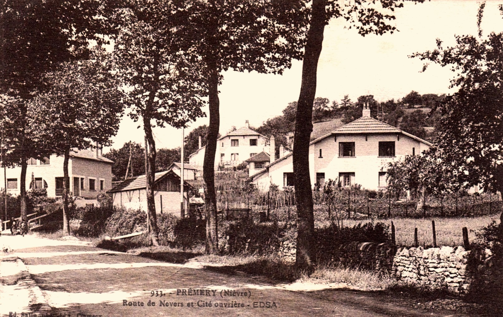 Prémery (Nièvre) La route de Nevers CPA