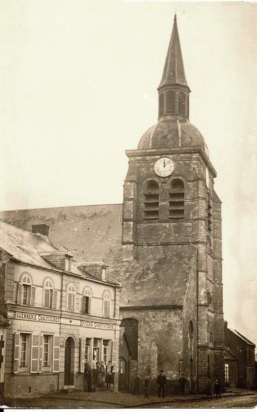 Prémont (Aisne) CPA Eglise