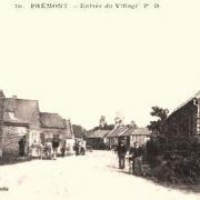 Prémont (Aisne) CPA Entrée du village
