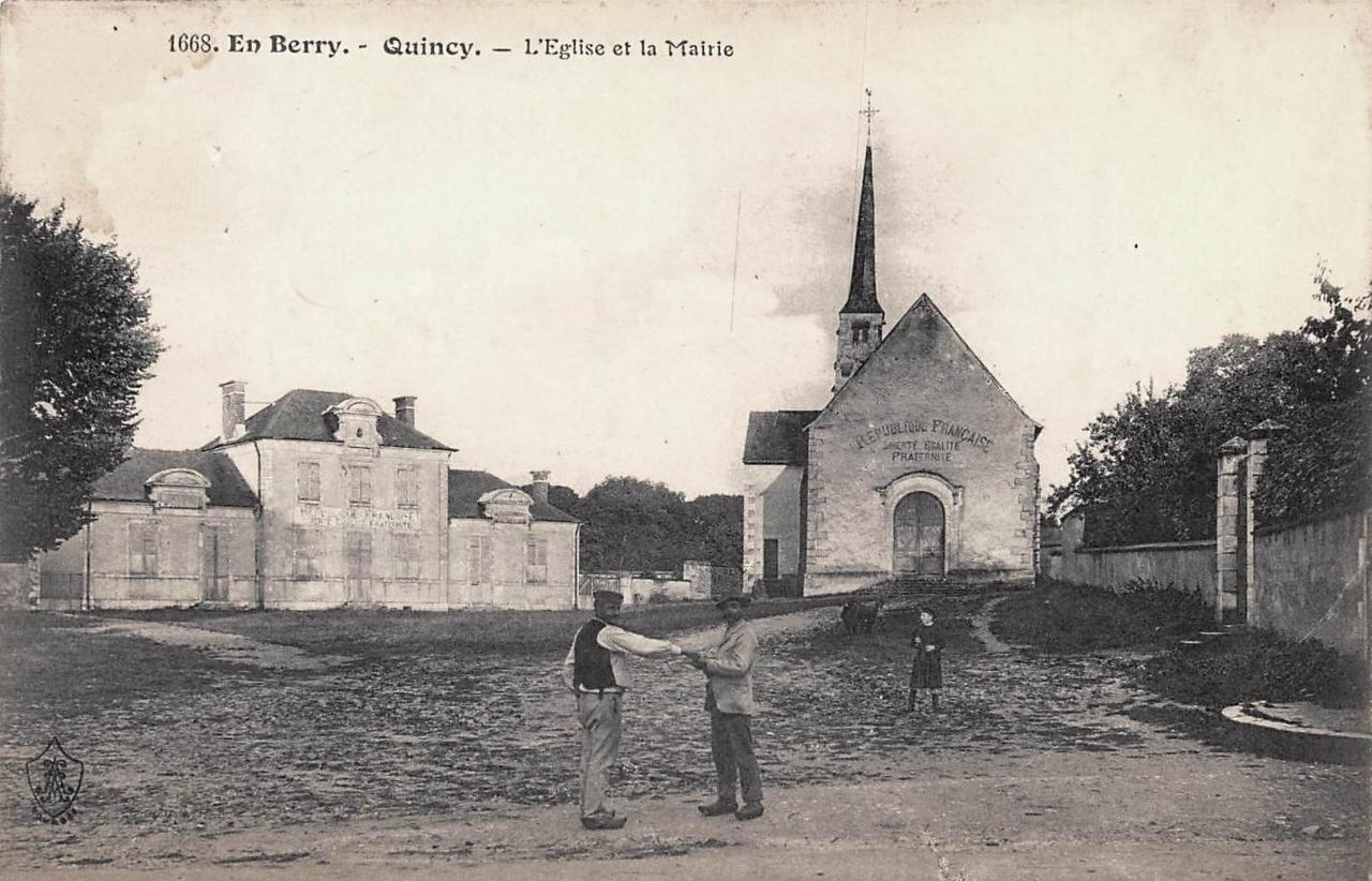 Quincy (Cher) L'église CPA