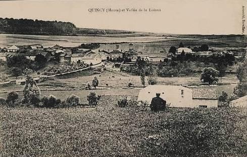 Quincy-Landzécourt (Meuse) Vue générale CPA