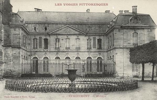 Remiremont, l'abbaye où est inhumé Gérard Ier d'Alsace